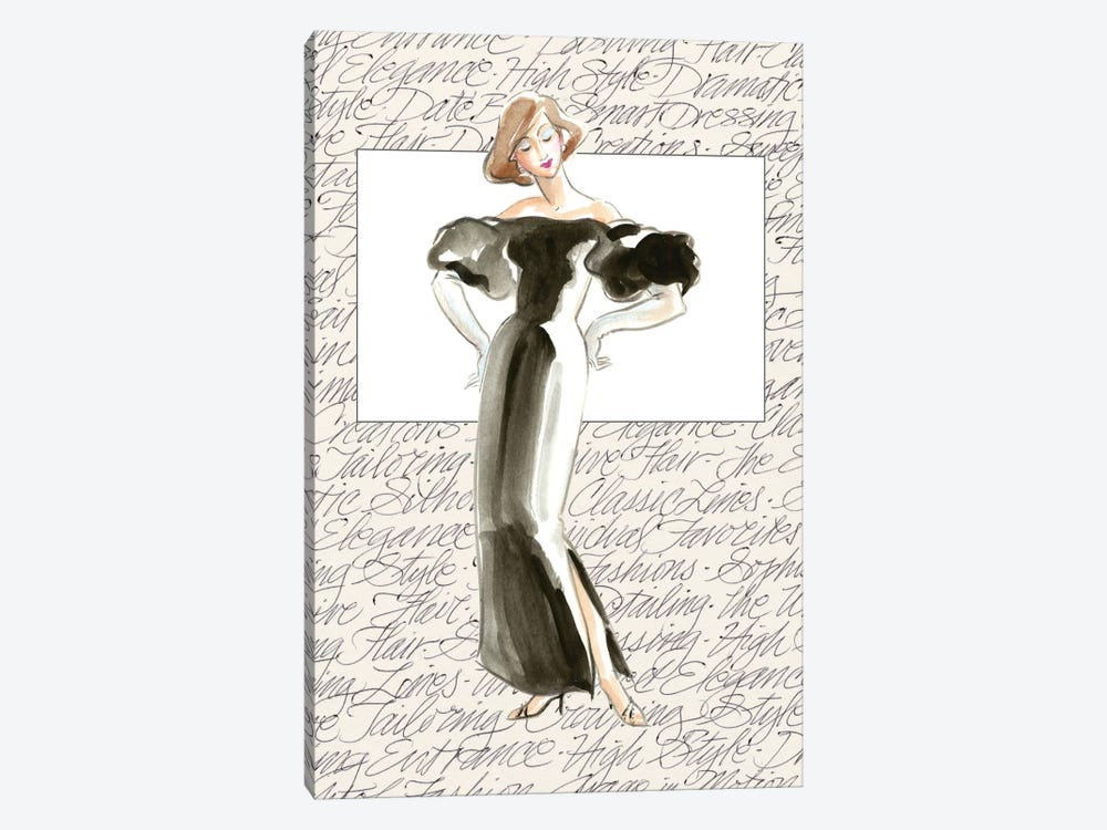 50's Fashion IV by Elissa Della-Piana 1-piece Canvas Wall Art