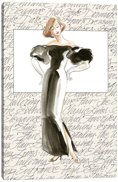 50's Fashion IV Canvas Art Print