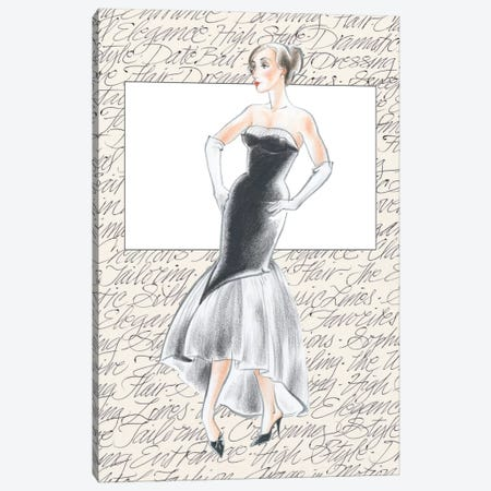 50's Fashion IX Canvas Print #EDP3} by Elissa Della-Piana Canvas Art
