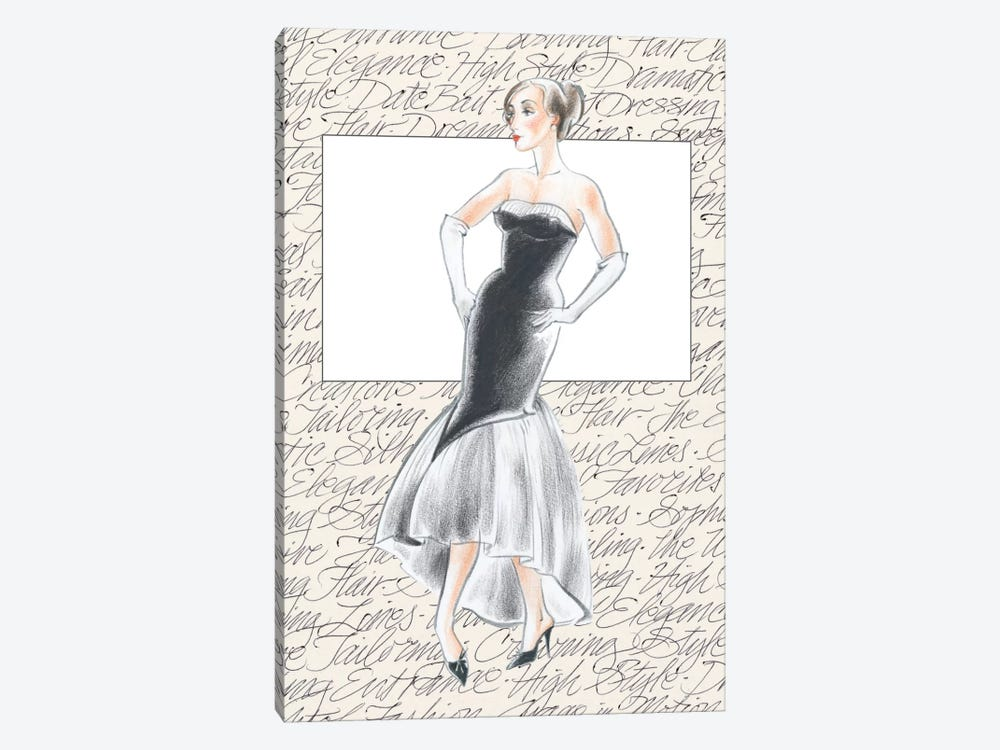 50's Fashion IX by Elissa Della-Piana 1-piece Art Print