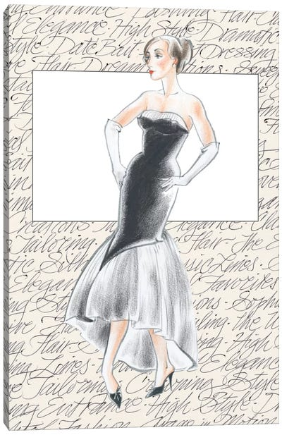 50's Fashion IX Canvas Art Print