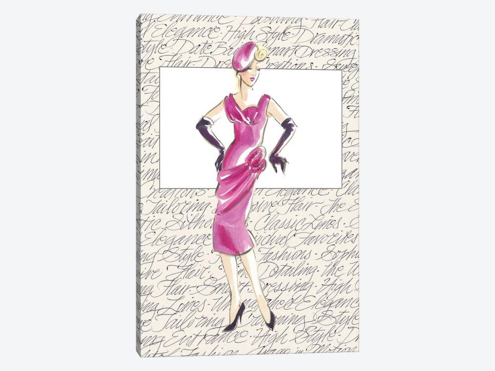50's Fashion VI by Elissa Della-Piana 1-piece Canvas Wall Art