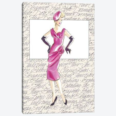 50's Fashion VI Canvas Print #EDP4} by Elissa Della-Piana Art Print