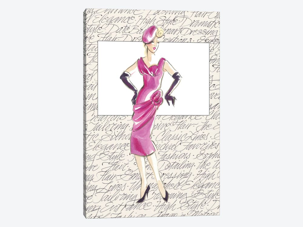 50's Fashion VI by Elissa Della-Piana 1-piece Canvas Wall Art