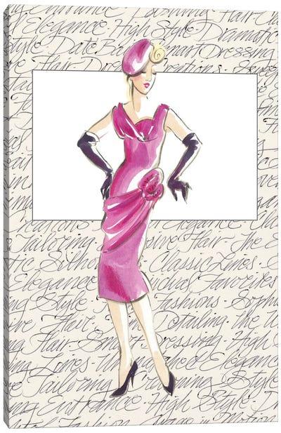50's Fashion VI Canvas Art Print