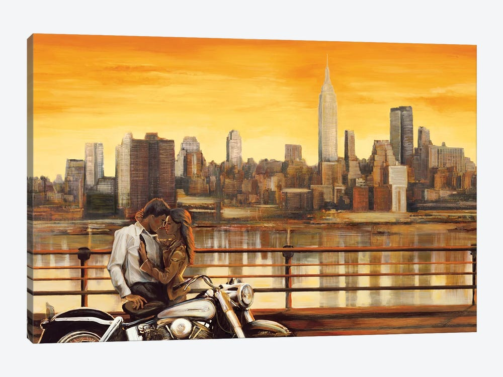 Lovers In New York by Edoardo Rovere 1-piece Canvas Print