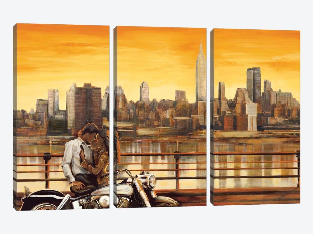 Lovers In New York by Edoardo Rovere 3-piece Art Print