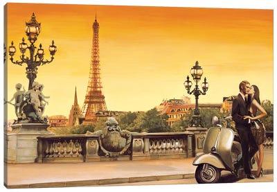 Lovers In Paris Canvas Art Print