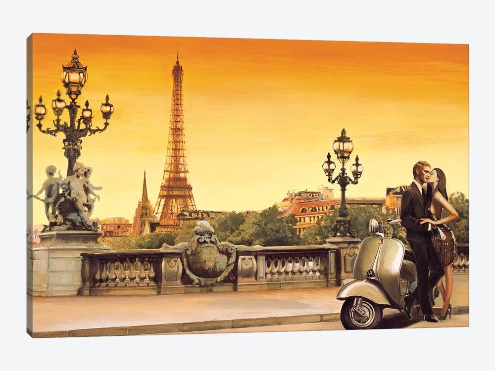 Lovers In Paris by Edoardo Rovere 1-piece Canvas Art