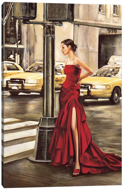Woman in New York Canvas Art Print