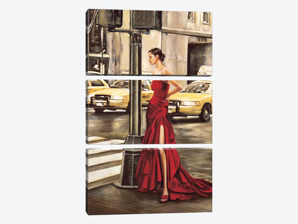 Woman in New York by Edoardo Rovere 3-piece Canvas Art Print