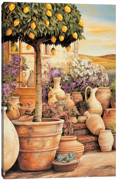 Lemon Topiary Canvas Art Print