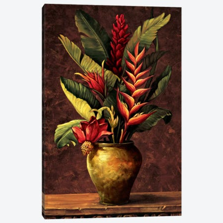 Tropical Arrangement I Canvas Print #EDU7} by Eduardo Canvas Artwork
