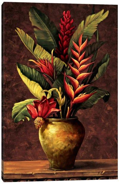 Tropical Arrangement I Canvas Print #EDU7