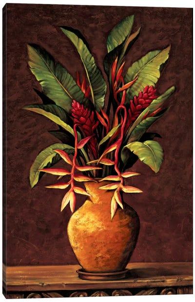 Tropical Arrangement II Canvas Print #EDU8