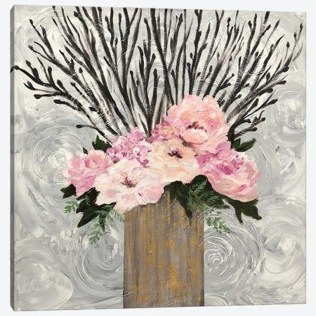 Twiggy Floral Arrangement Canvas Print #EEC5} by Lee C Canvas Artwork