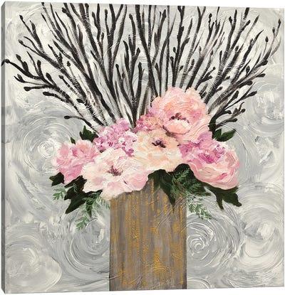 Twiggy Floral Arrangement Canvas Art Print