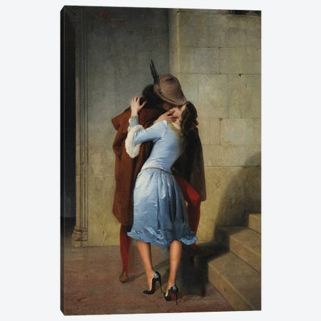 A Heeled Kiss Canvas Print #EEE12} by Artelele Canvas Print