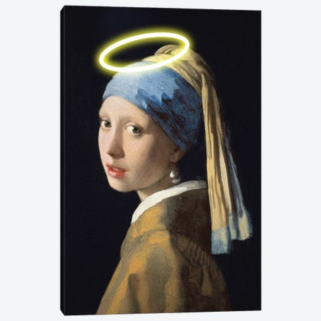 Girl With A Halo Canvas Print #EEE2} by Artelele Canvas Print