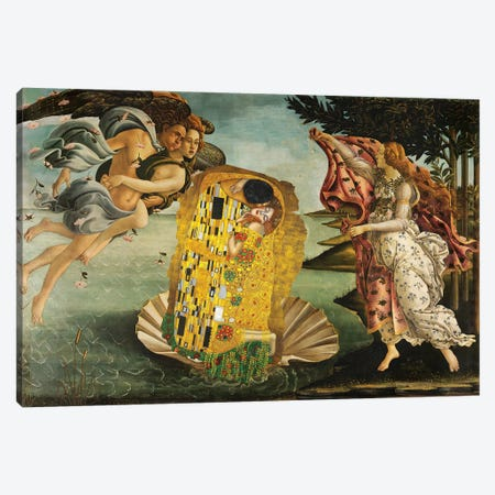 The Birth Of A Kiss Canvas Print #EEE68} by Artelele Canvas Art