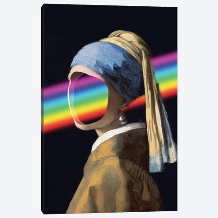 Girl With A Rainbow Canvas Print #EEE6} by Artelele Canvas Art