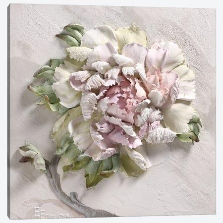 Gentle Peony Canvas Print #EER3} by Evgenia Ermilova Canvas Print