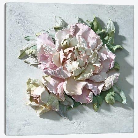 Pink Peony Canvas Print #EER6} by Evgenia Ermilova Canvas Artwork