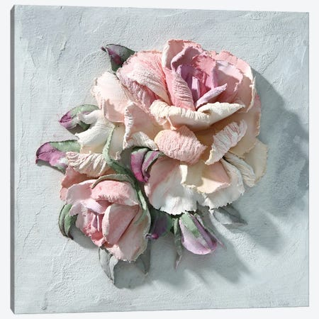 Pink Rose Canvas Print #EER7} by Evgenia Ermilova Canvas Artwork