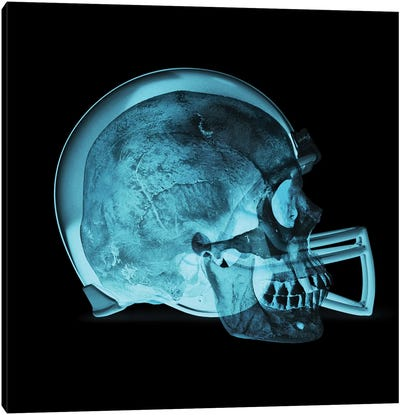 Helmet Skull Canvas Art Print