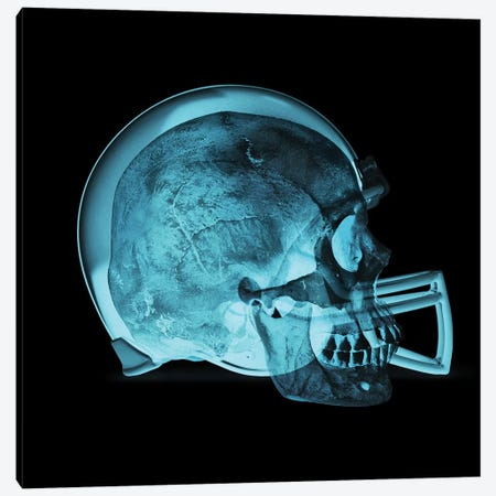 Helmet Skull Canvas Print #EEX11} by 5by5collective Canvas Art