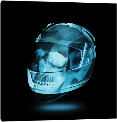 Let's Ride Skull Canvas Art Print