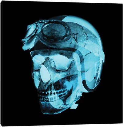 Skull Pilot Canvas Art Print