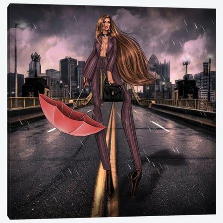 Rain Canvas Print #EFE11} by Erin Felis Canvas Print