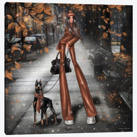 Autumn Canvas Print #EFE13} by Erin Felis Canvas Print