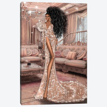 Sparkle Dress Canvas Print #EFE15} by Erin Felis Canvas Artwork