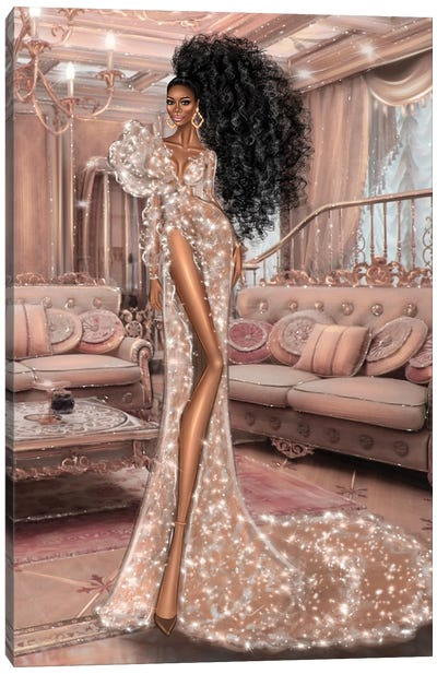 Sparkle Dress Canvas Art Print