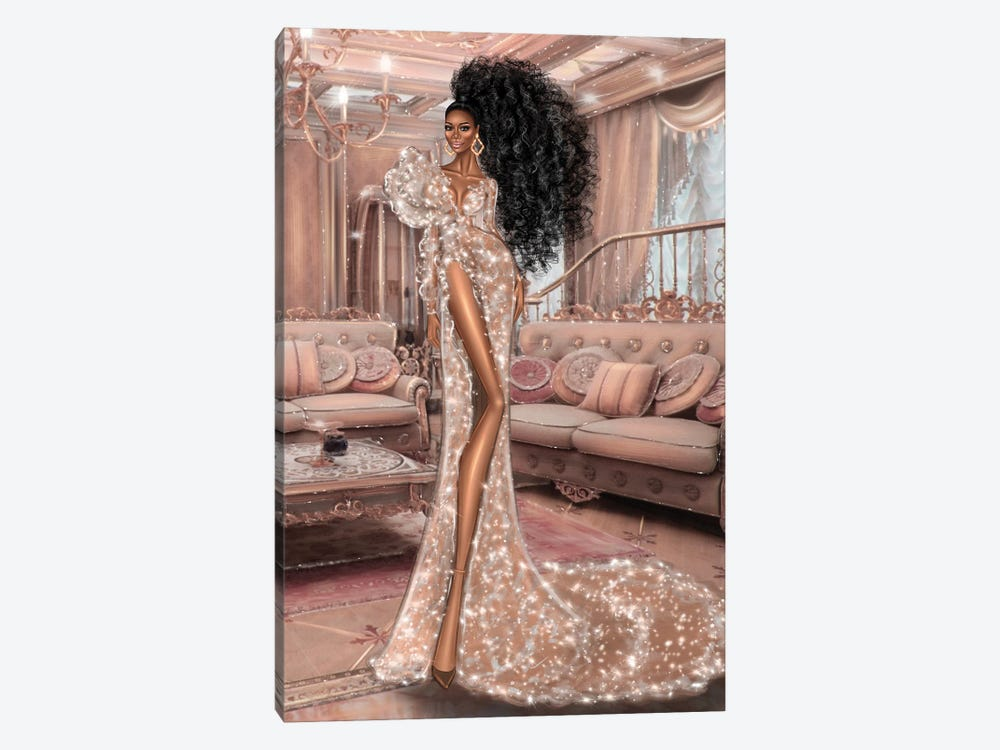 Sparkle Dress by Erin Felis 1-piece Canvas Wall Art