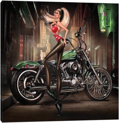 Motobike Canvas Art Print