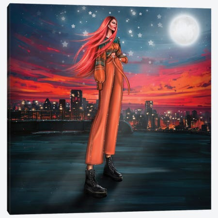 Moonlight Canvas Print #EFE18} by Erin Felis Canvas Print