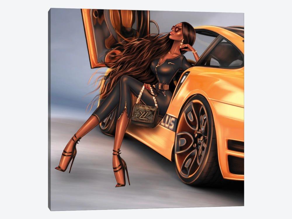 Yellow Car by Erin Felis 1-piece Canvas Print