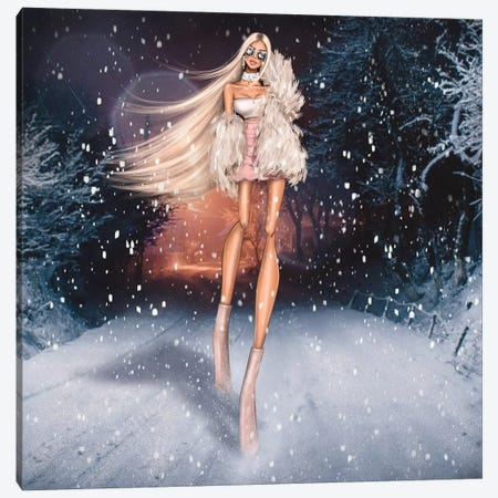 Winter Princess Canvas Print #EFE20} by Erin Felis Canvas Wall Art