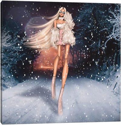 Winter Princess Canvas Art Print