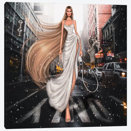 Gigi Hadid Canvas Print #EFE22} by Erin Felis Canvas Artwork