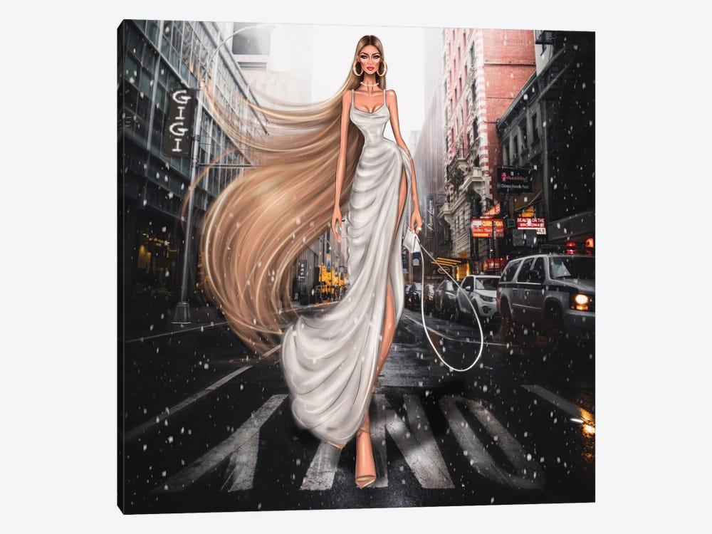 Gigi Hadid by Erin Felis 1-piece Canvas Artwork
