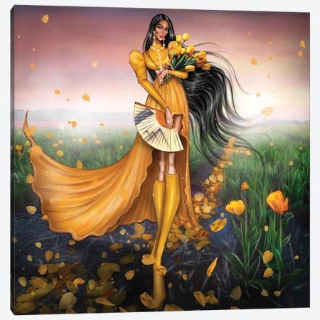 Yellow Tulips Canvas Print #EFE23} by Erin Felis Canvas Artwork