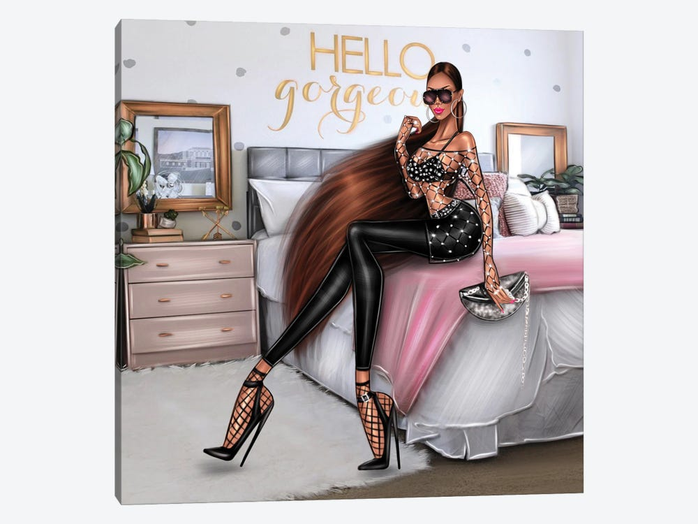 Hello Gorgeous by Erin Felis 1-piece Canvas Artwork