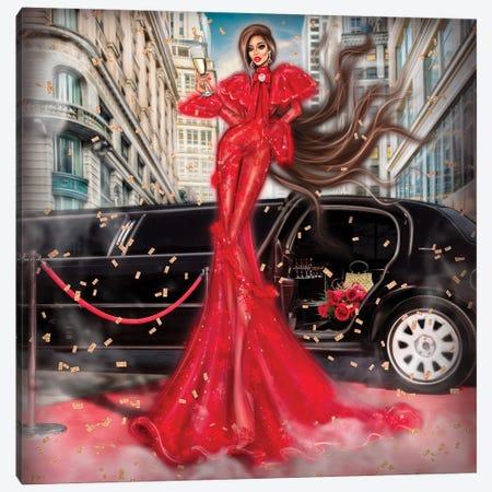 Red Dress Canvas Print #EFE30} by Erin Felis Art Print