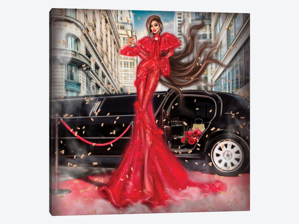 Red Dress by Erin Felis 1-piece Canvas Art Print