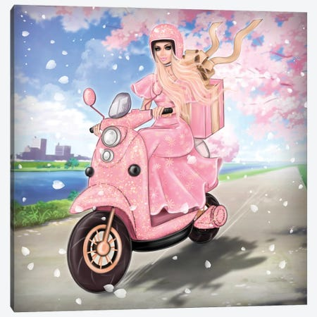 Delivery Girl Canvas Print #EFE34} by Erin Felis Canvas Art
