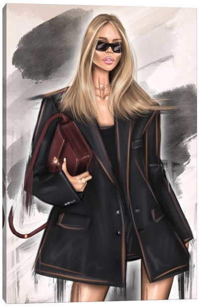 Fashion Model Canvas Art Print